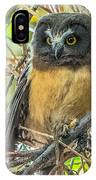 The Savvy Saw-whet IPhone Case