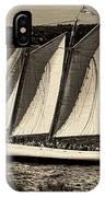The Schooner Adirondack II Antiqued IPhone Case