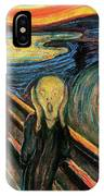 The Scream Flame Tree Edition IPhone Case