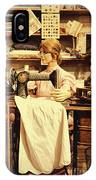 The Seamstress At Work IPhone Case