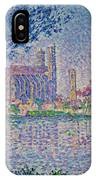 The Seine At Mantes, By Paul Signac, 1899-1900, Kroller-muller M IPhone Case