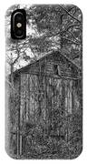 The Shack In Black And White IPhone Case