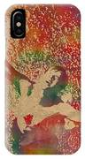 The Shawshank Redemption Movie Inspired Watercolor Portrait Of Tim Robbins On Worn Distressed Canvas IPhone Case