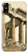 The South-east Corner Of The Parthenon. Athens IPhone Case