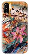 The Splash Of Life 17. Humming-bird And Exotic Flowers IPhone Case