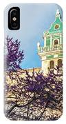 The Steeple Of The Valldemossa Charterhouse In Spring IPhone Case