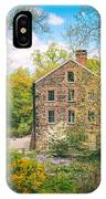 The Stone Mill In Spring IPhone Case