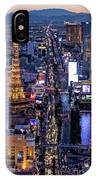 the Strip at night, Las Vegas IPhone Case