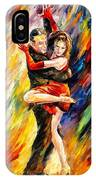 The Sublime Tango - Palette Knife Oil Painting On Canvas By Leonid Afremov IPhone Case