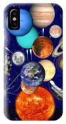 The Sunflower Solar System IPhone Case