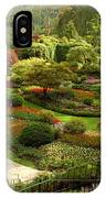 The Sunken Garden At Butchart Gardnes IPhone Case