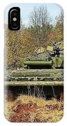 The Tank T-72 In Movement IPhone Case