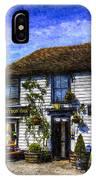 The Theydon Oak Pub Art IPhone Case