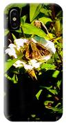 The Tiniest Skipper Butterfly In The Garden IPhone Case