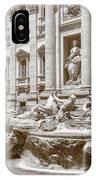The Trevi Fountain In Sepia Tones IPhone Case