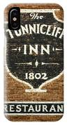 The Tunnicliff Inn - Cooperstown IPhone Case