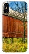 The Van Sant Covered Bridge IPhone Case