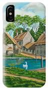 The Village Pond In Wroxton IPhone Case
