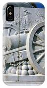 The Vittorio Emanuele Monument Marble Relief Of A Canon Standards Rome Italy IPhone Case