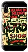 The Weird Show Poster IPhone Case