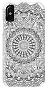 The White Mandala No. 3 IPhone Case