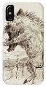 The Wild Boar IPhone Case
