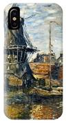 The Windmill On The Onbekende Gracht, Amsterdam 1874 IPhone Case
