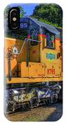 The Workhorse Squaw Creek Southern Rail Road Locomotive Art IPhone Case