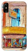 Theatre Rialto Ave. Du Parc Montreal IPhone Case