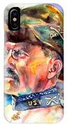 Theodore Roosevelt Painting IPhone X Case