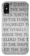 They Have Given Their Sons To The Military... - National World War II Memorial In Washington Dc IPhone Case
