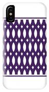 Thick Curved Trellis With Border In Purple IPhone Case