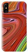 Thick Paint Orange Abstract IPhone Case