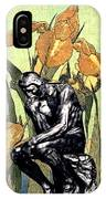 Thinking In The Garden IPhone Case