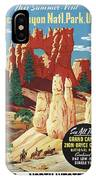 This Summer - Visit Bryce Canyon National Par, Utah, Usa - Retro Travel Poster - Vintage Poster IPhone Case