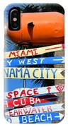 This Way To Florida IPhone Case