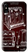 Thomas A. Edison Jr. Toaster Patent 1933 2 IPhone Case
