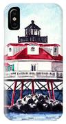 Thomas Point Shoal Lighthouse Annapolis Maryland Chesapeake Bay Light House IPhone Case
