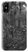 Thoreau Woods Black And White IPhone Case