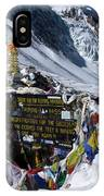 Thorong La Pass, Annapurna Circuit, Nepal IPhone Case