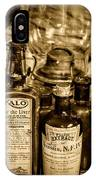 Those Old Apothecary Bottles In Sepia IPhone Case