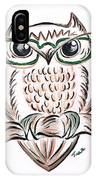 Owl- Those Spectacles  IPhone Case