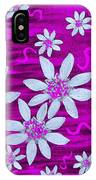 Three And Twenty Flowers On Pink IPhone Case