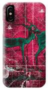 Three Antelope On Red IPhone Case