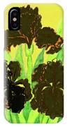 Three Black Irises, Painting IPhone Case
