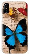 Three Butterflies IPhone Case