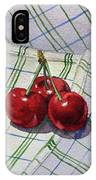 Three Sweet Cherries By Irina Sztukowski IPhone Case