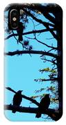 Three Crows In A Tree IPhone Case