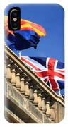Three Flags At London Bridge IPhone Case