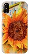 Three Graphic Sunflowers IPhone Case